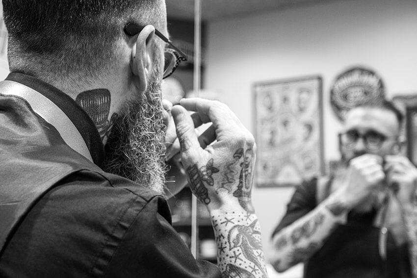 Perfilando la barba