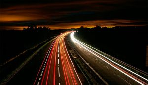 Fotografiar luces coche de noche