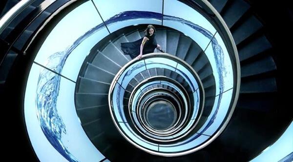 Fotografía de escaleras en espiral