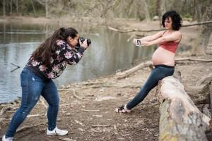Making off de una sesión fotográfica de embarazo