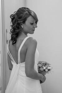 Preparación de la novia previamente antes de la boda