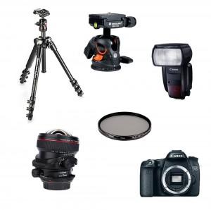 Material necesario para fotografía de arquitectura.