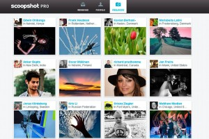 Aplicación scoopshot para imágenes