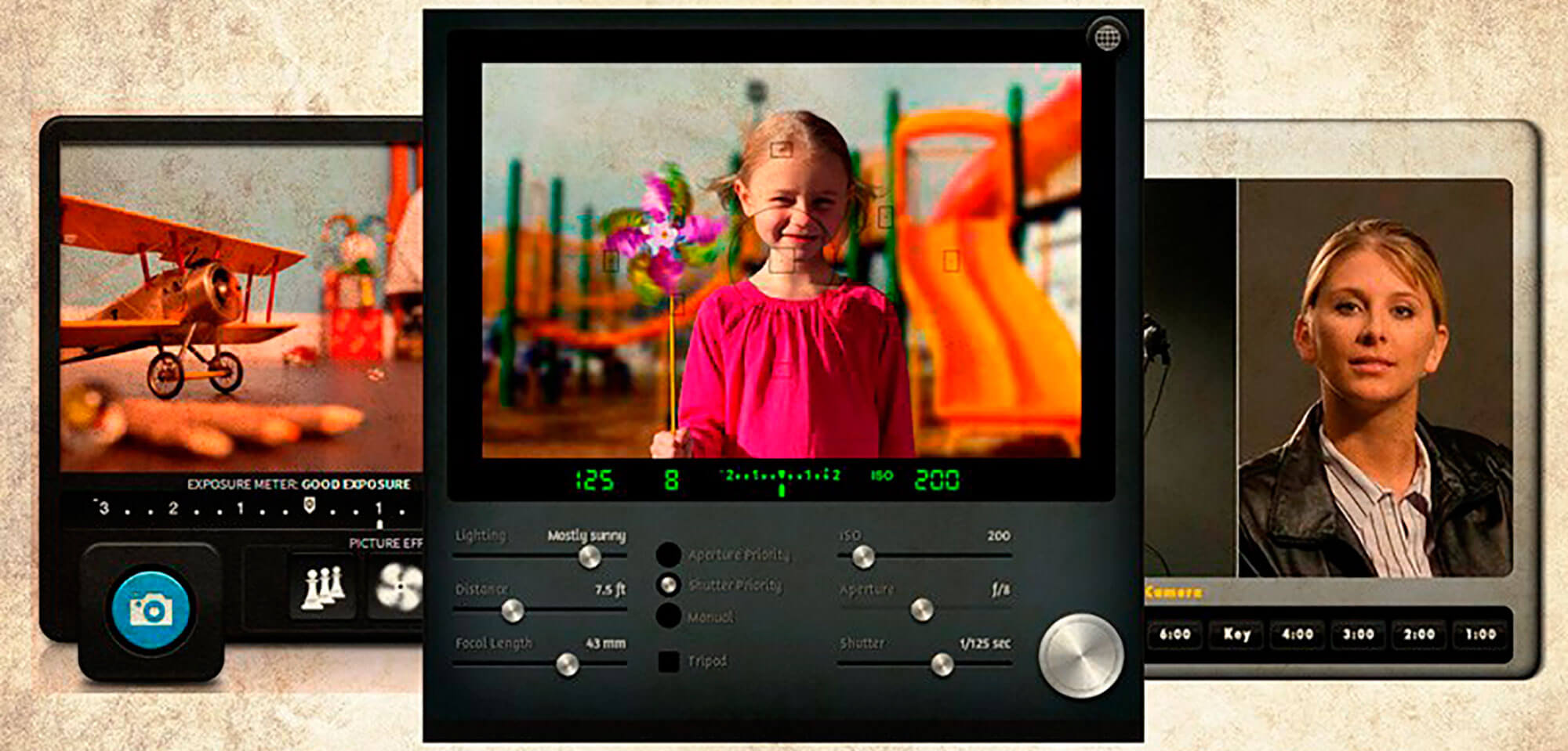 Simuladores fotográficos para cámara