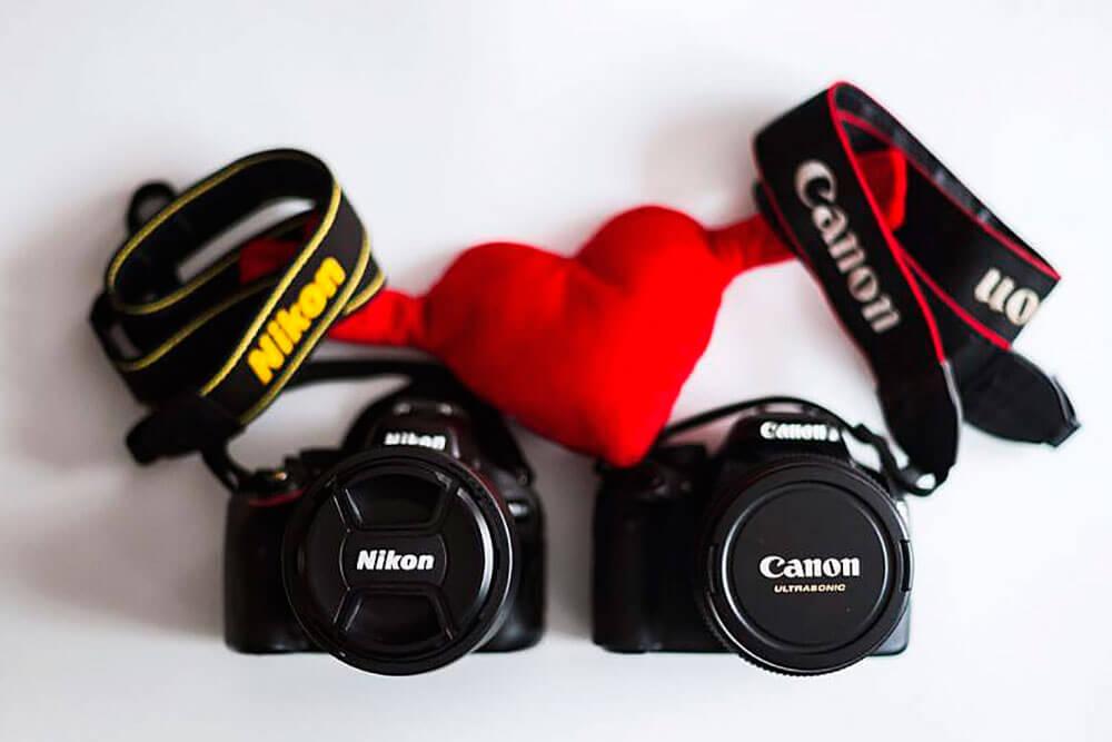 Canon y nikon son iguales
