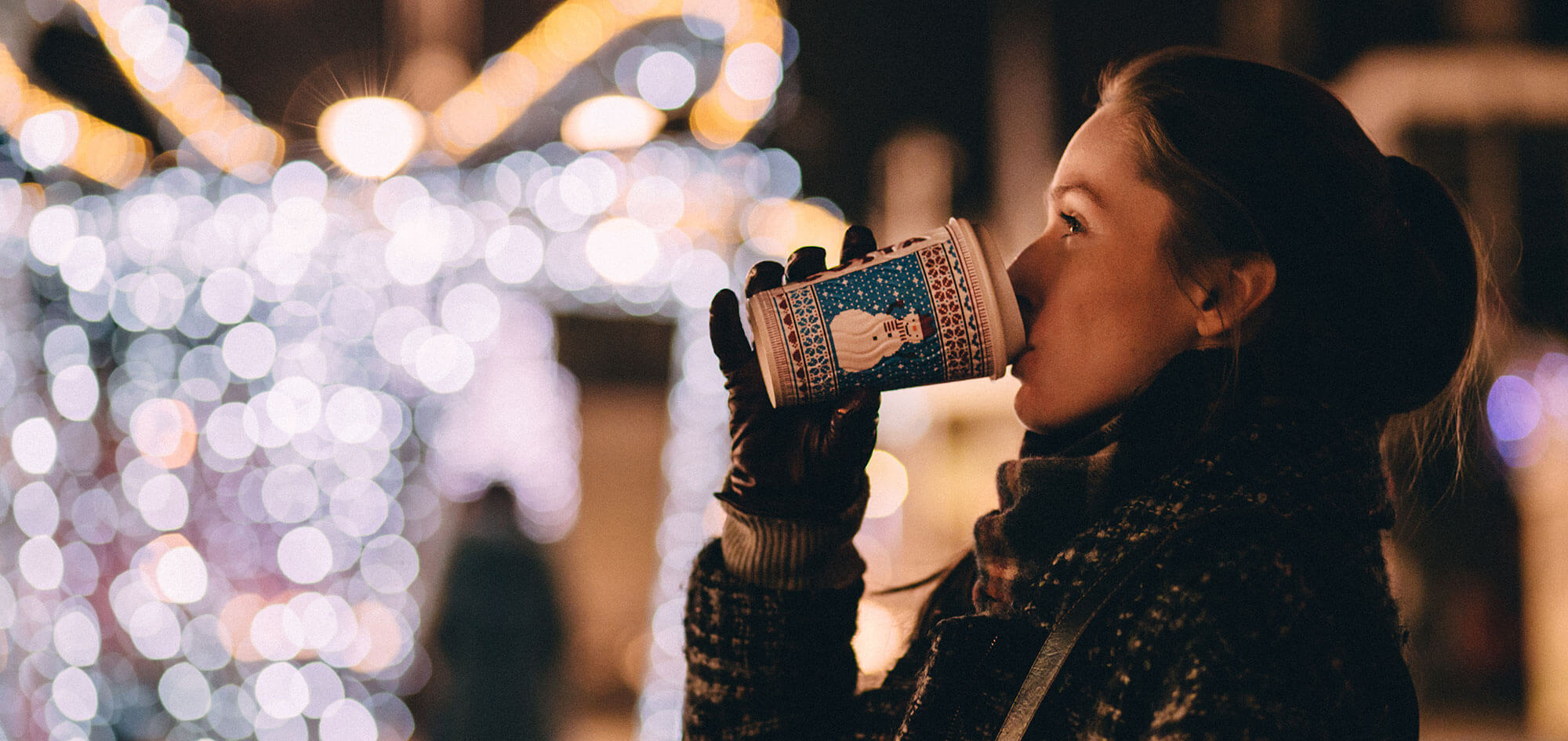 Fotografía de navidad en la calle.