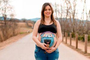 Fotografía belly painting Granollers embarazadas