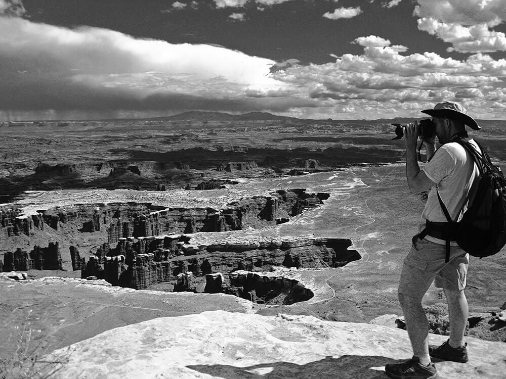 Fotografía en pleno desierto