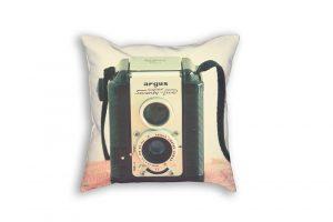 Cojín de cámara fotográfica para decorar la cama