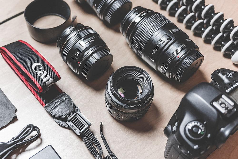 Equipo para fotografiar eventos