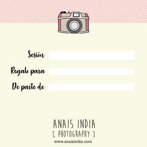 Tarjeta regalo Anais India Fotografias