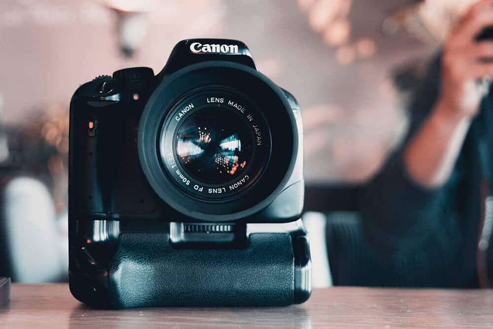 Grip para una cámara canon
