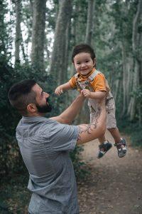 Sesión fotográfica padre e hijo