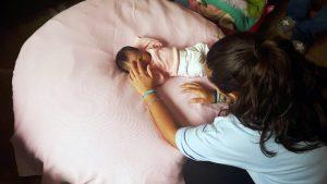 Making off sesión newborn