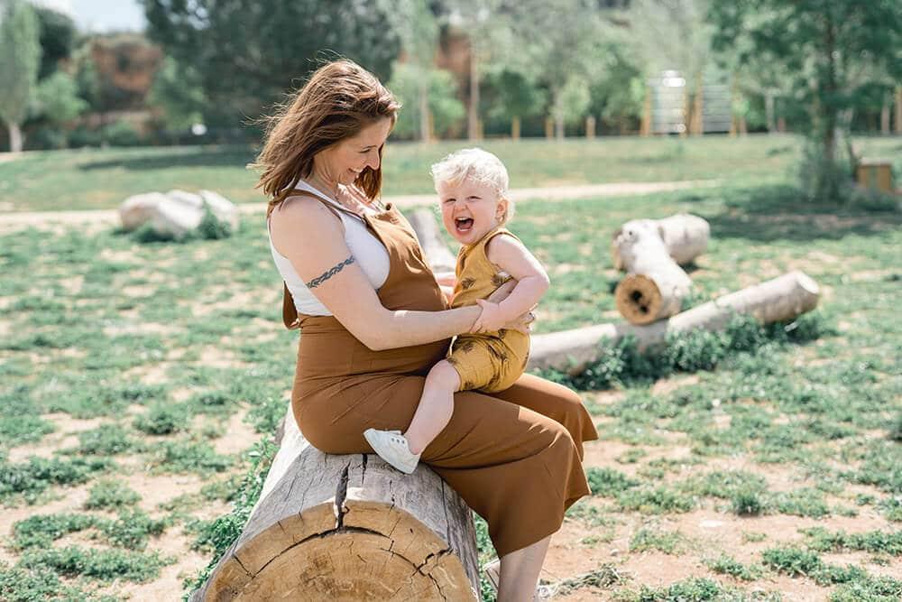 Reportaje en exterior de embarazo en Granollers