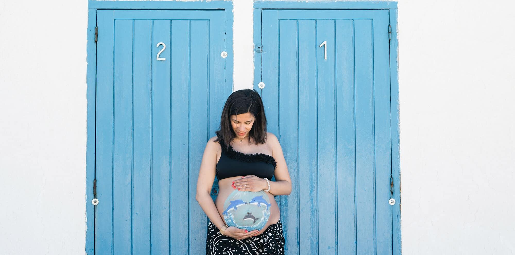 Sesión fotográfica personalizada de belly painting Barcelona