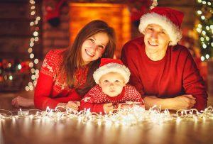Primer reportaje navideño del bebé