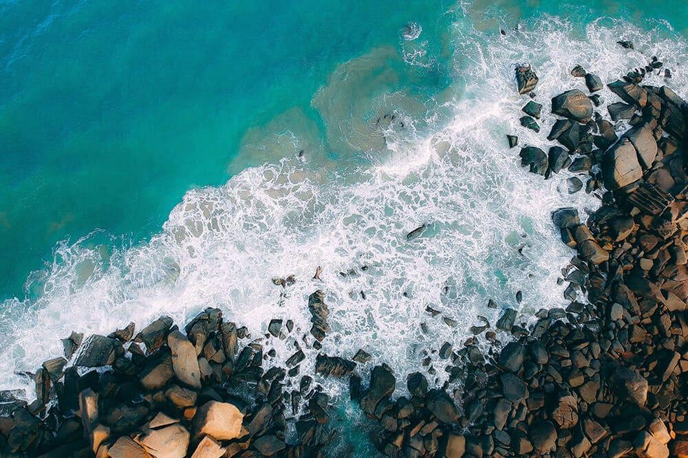 Fotografía con drone de playa