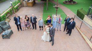Fotografía con drone en bodas
