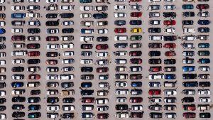 Fotografía aeria de coches