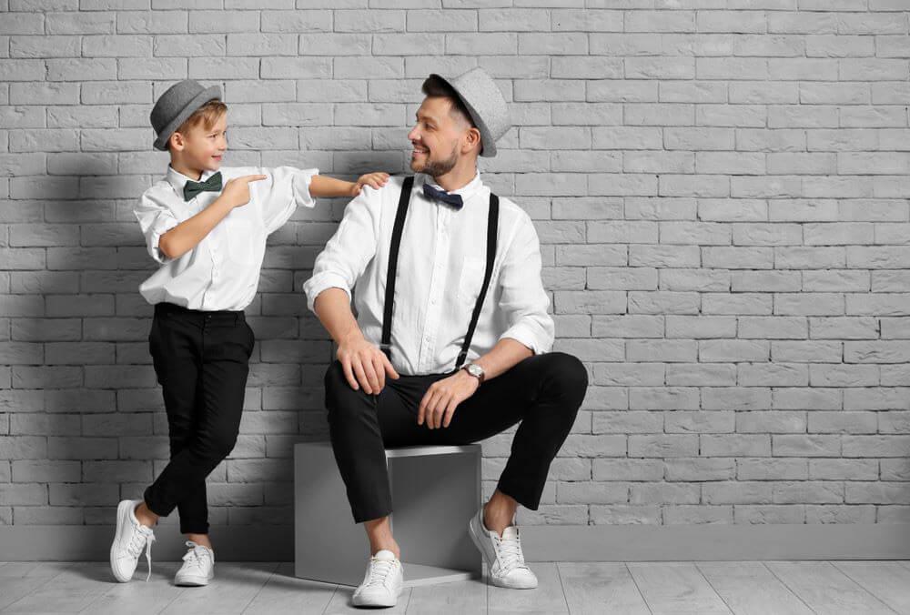 Reportaje divertido padre e hijo