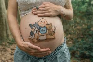 Dibujo barriga embarazo Granollers