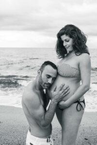 Reportaje embarazo playa
