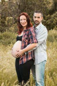 Sesión fotográfica embarazada exterior