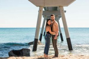 Book fotos pareja exterior playa