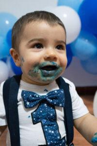 Sesión fotográfica primer pastel bebé