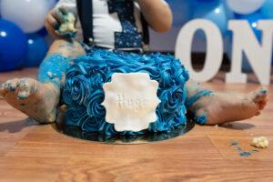 Sesión fotográfica primer pastel bebé Granollers